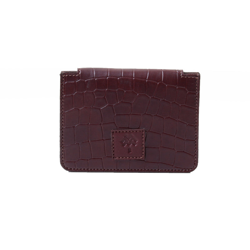 Card Holder Croc Burgundy