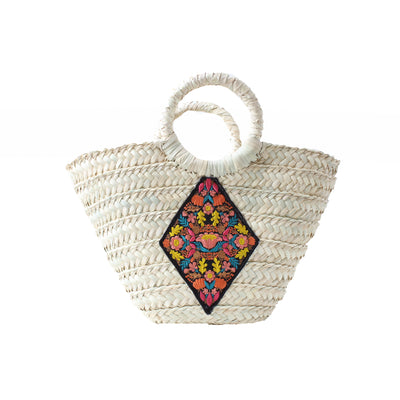 Wicker Bag Diamond lotus Small