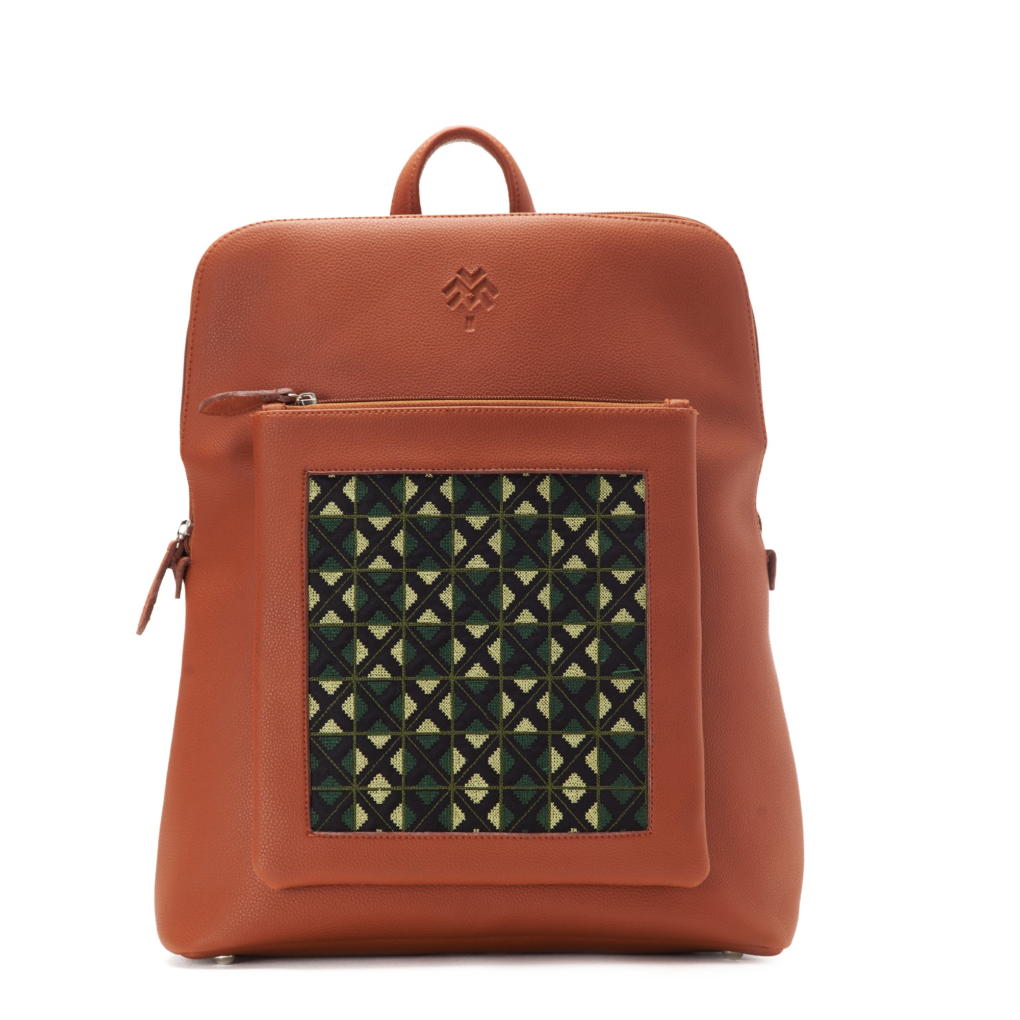 Havane x Olive Green Curvy Laptop bag