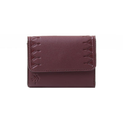 Card Holder Burgundy Leaflet