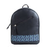 Black x Blue Flowered Tassel Backpack