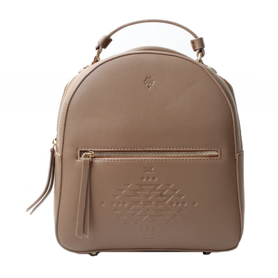 Leather Backpack Cafe