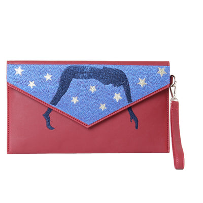 Clutch Red Starry Night