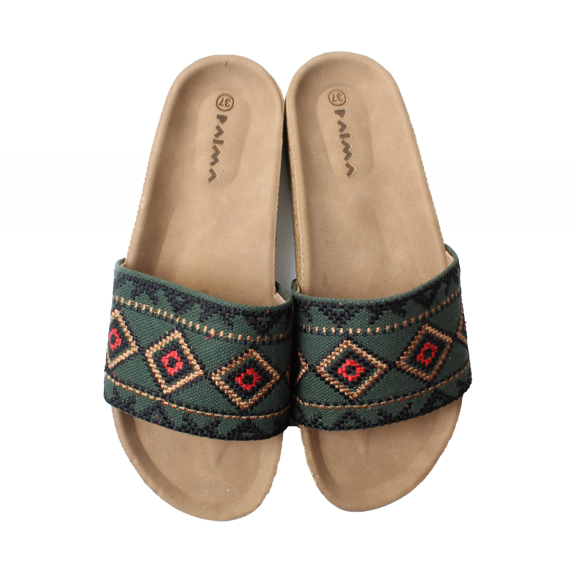Slippers Royal Green