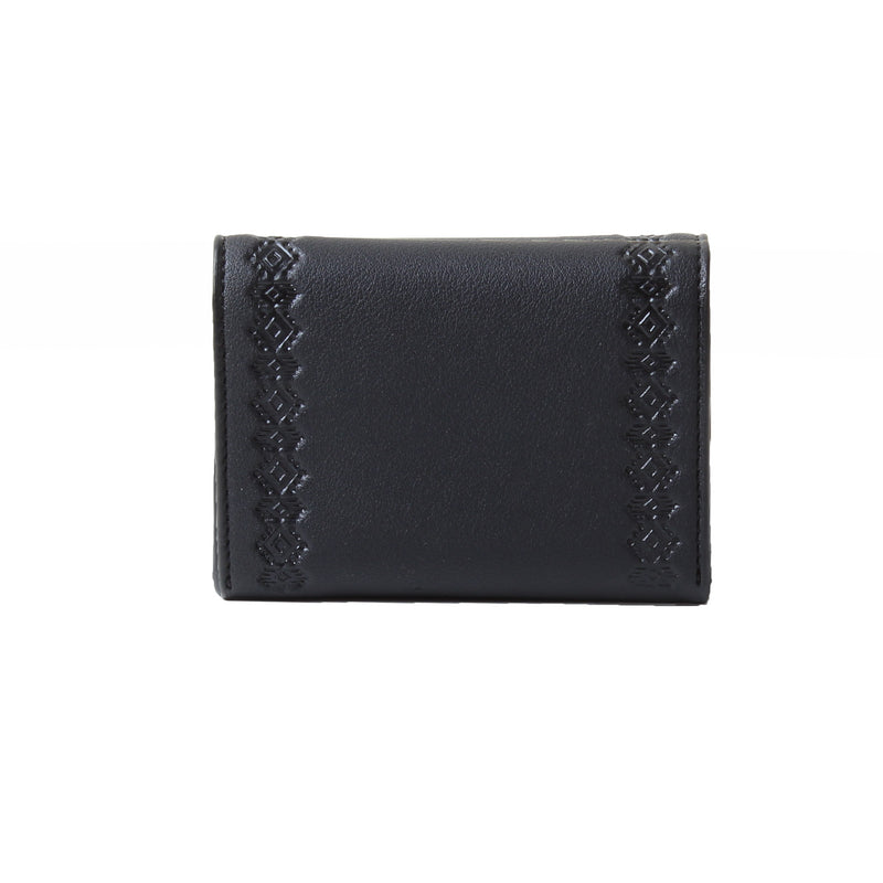 Card Holder Black Leaflet