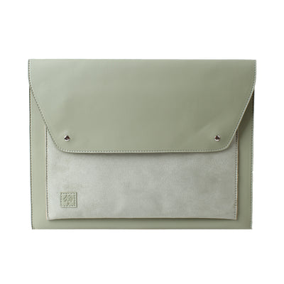 Laptop Sleeve Farfallo Pistachio Suede