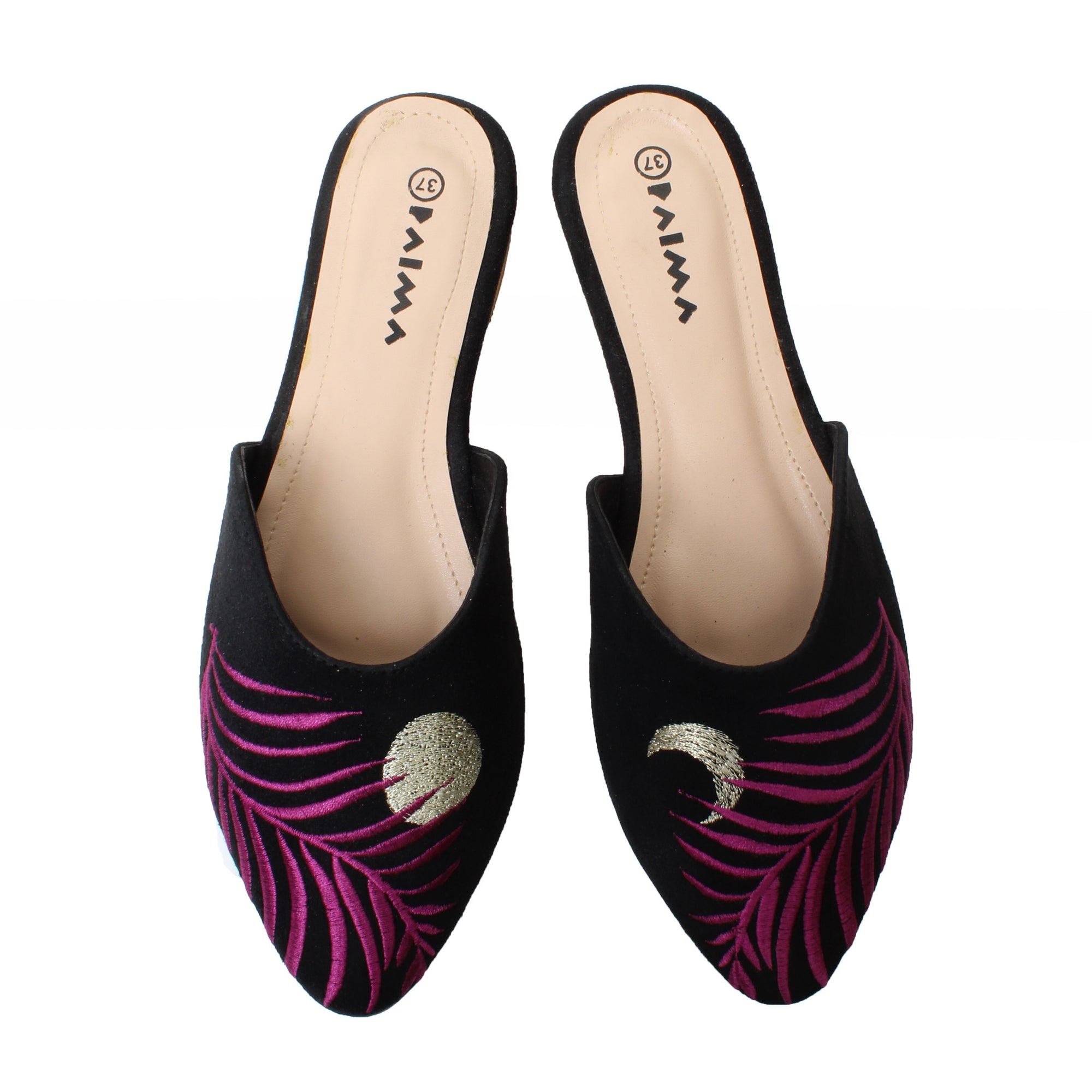 Pointy Mules Purple Moonlight