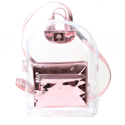 Metallic Mini Backpack Pink