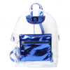 Metallic Mini Backpack Blue