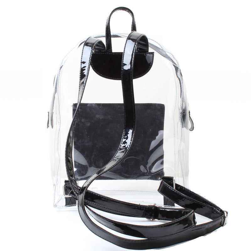 Metallic Mini Backpack Black