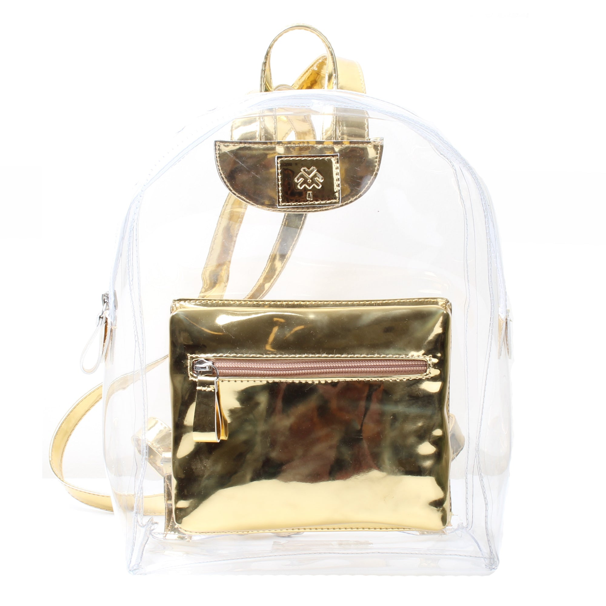 Metallic Mini Backpack Gold