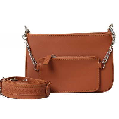 Saddle Crossbag Farfalla Havane