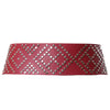 Studded Belt Burgundy