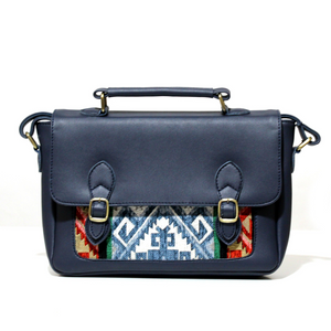 Navy Blue Satchel