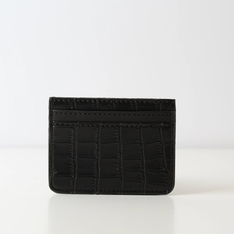 Card Holder Black Croc
