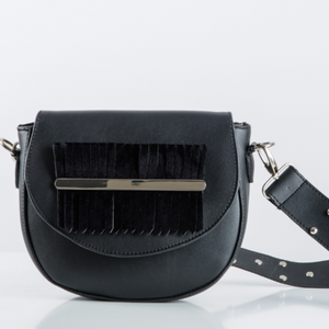 Black Fringes Belt Bag