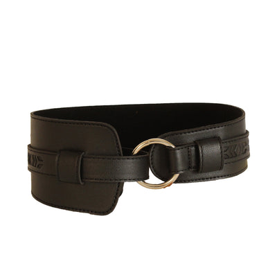Waistband Free-size Belt Black