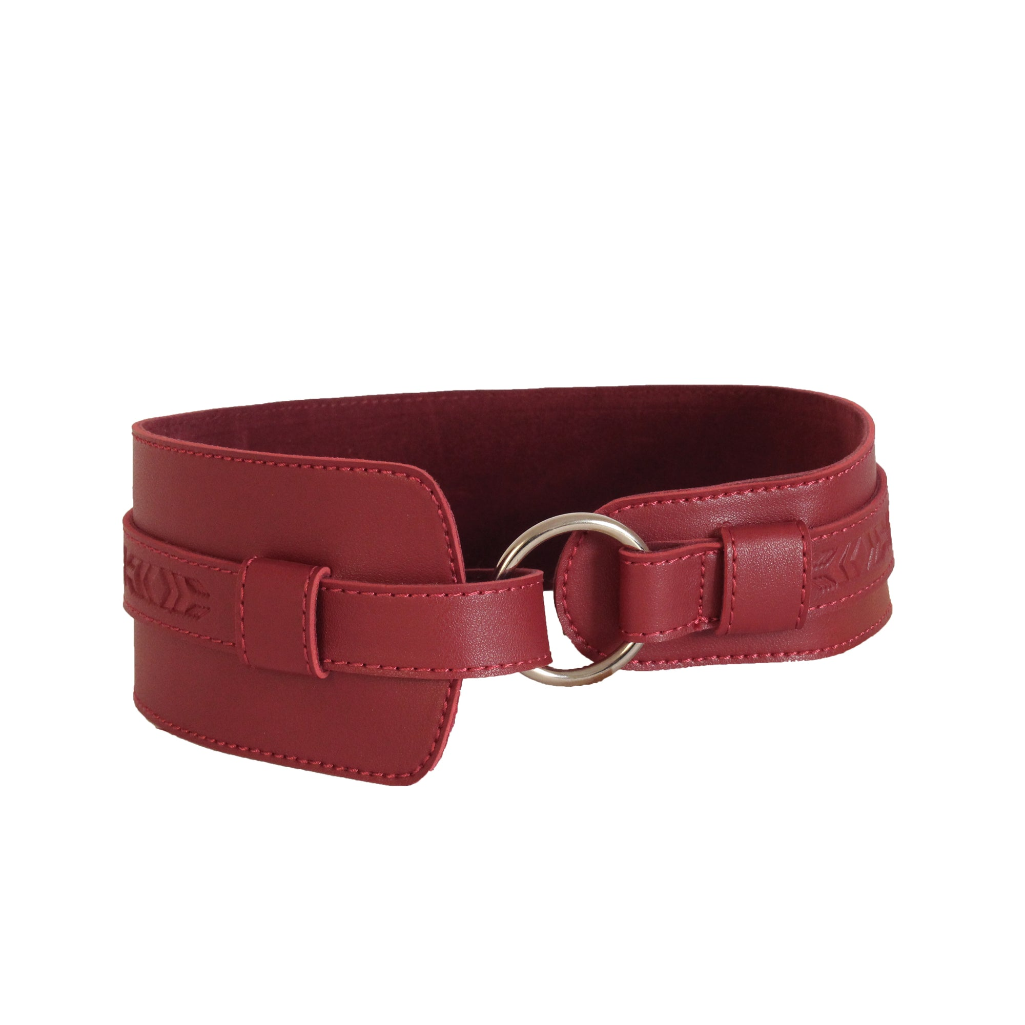 Waistband Free-size Belt Burgundy