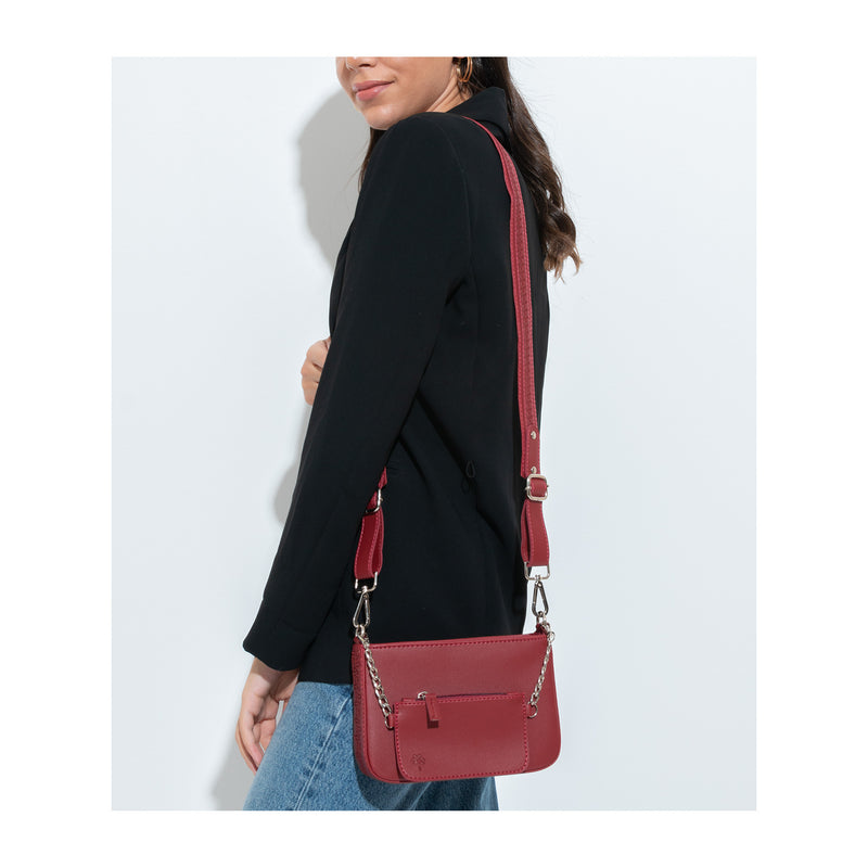 Saddle Crossbag Farfalla Burgundy