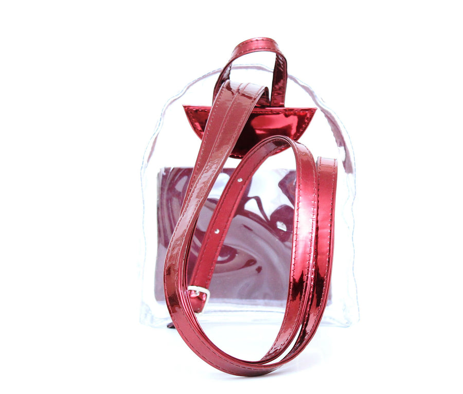 Red Transparent Mini Backpack