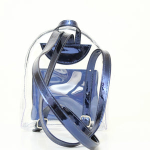 Blue Transparent Mini Backpack