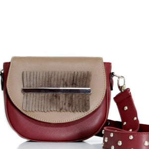 Burgundy x Cocoa Fringes Belt Bag