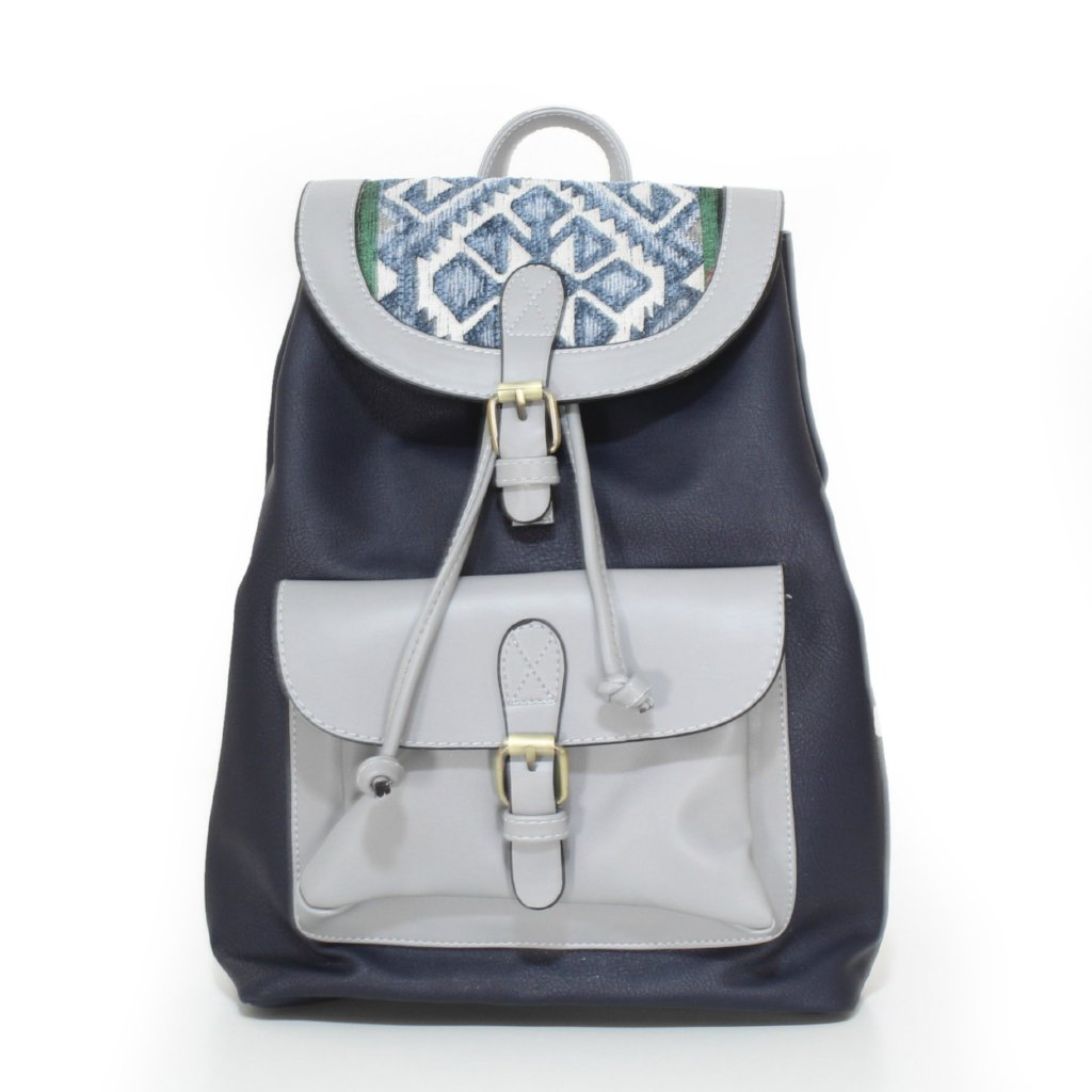 Navy Blue x Grey Original Backpack