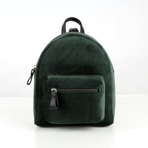 Green Velvet Mini Backpack