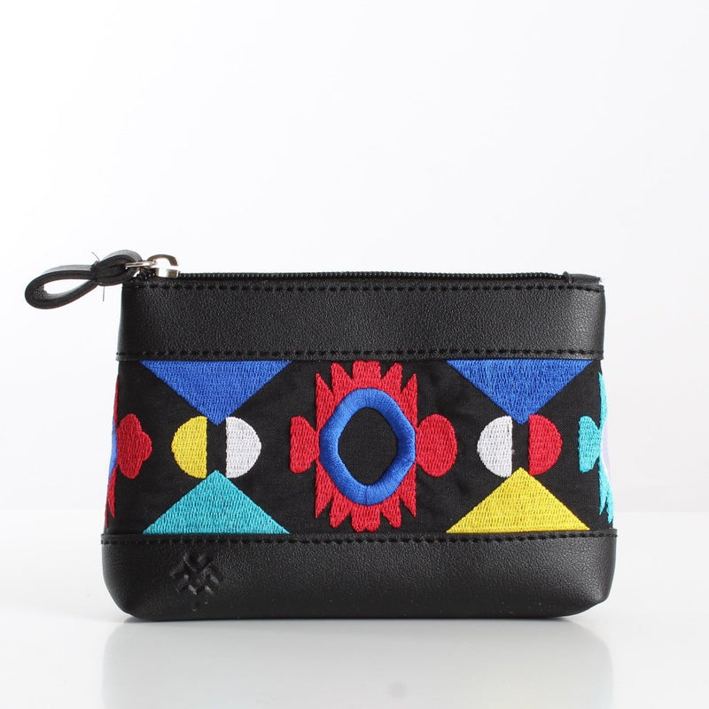 Black Boho Colors Makeup Bag