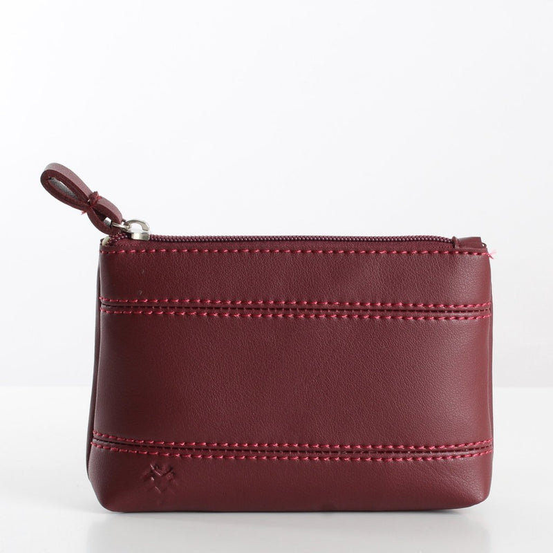 Plain Burgundy Makeup Bag