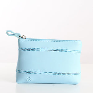 Plain Blue Makeup Bag