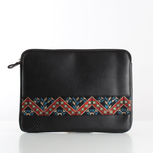 Black Etamine Laptop Sleeve