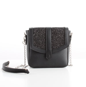 Black Glitter Mini CrossBag