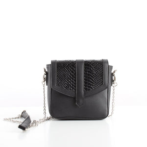 Black SnakeSkin Mini CrossBag
