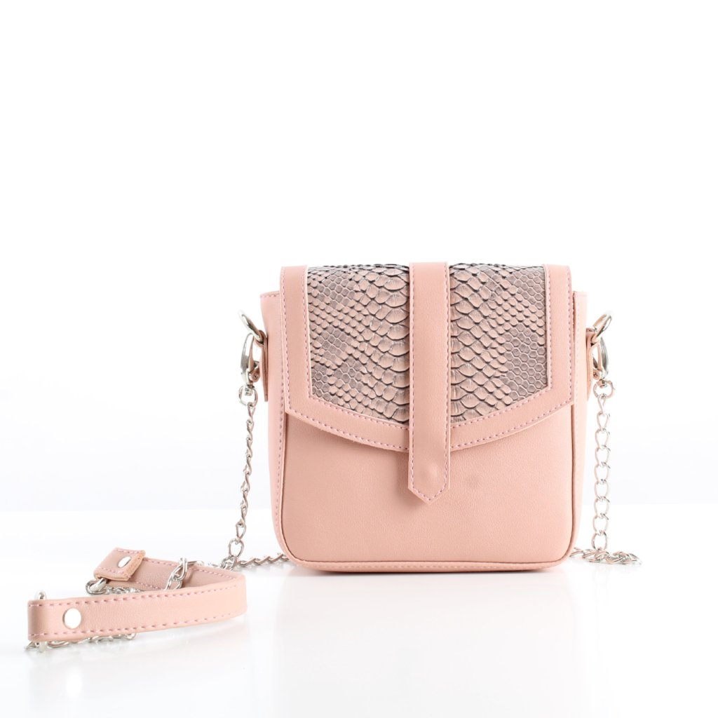 Pink SnakeSkin Mini CrossBag