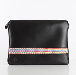 Zigzag Black Laptop Sleeve