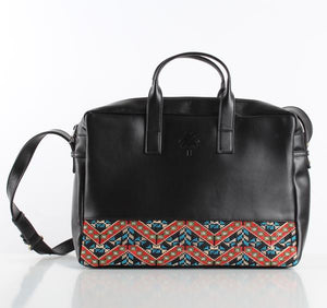 Etamine  Black x RedBlue laptop bag