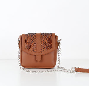 Havane SnakeSkin Mini CrossBag