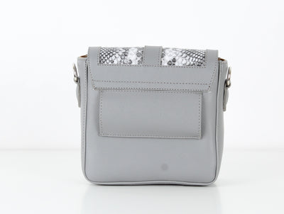 Grey SnakeSkin Mini CrossBag