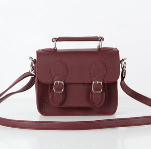 Burgundy Mini Satchel
