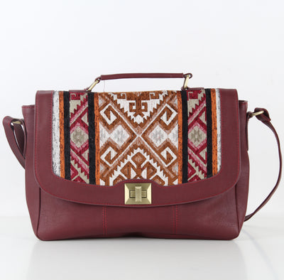 Burgundy Original Laptop Cross-bag