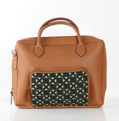 Olive Green One Pocket Laptop Bag