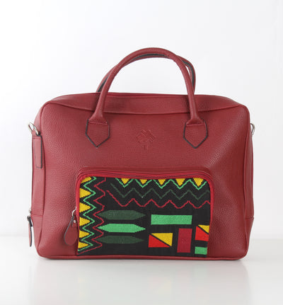 Burgundy One Pocket Laptop Bag