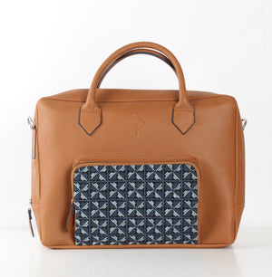 Havane x Blue Flowered One Pocket Laptop Bag