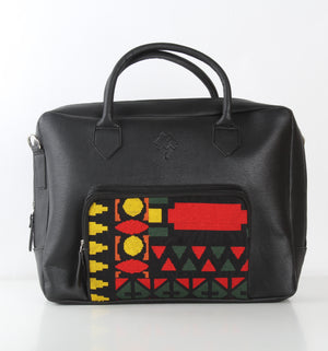 Black x Yellow One Pocket Laptop Bag