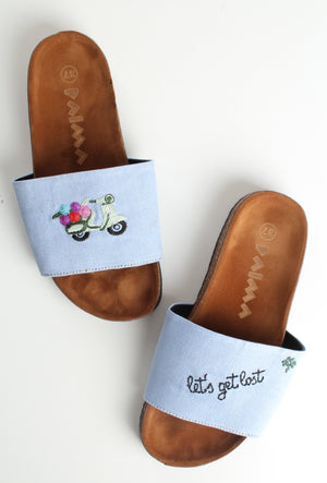 Scooter Blue Slippers
