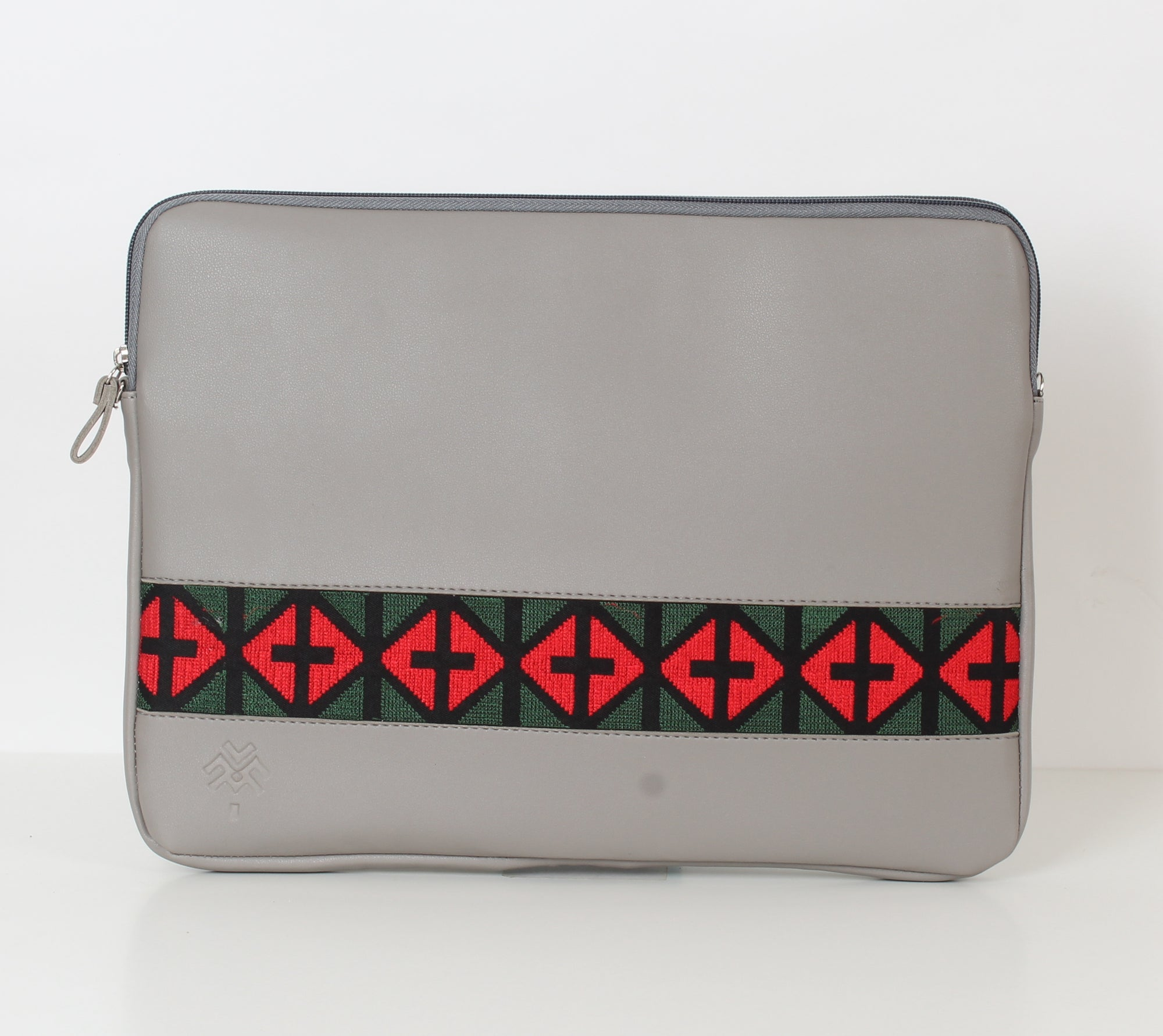 Grey x Green Red Laptop Sleeve