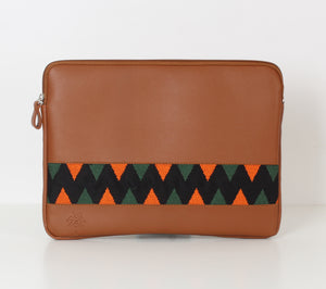 Havane x Orange Dark Green Laptop Sleeve