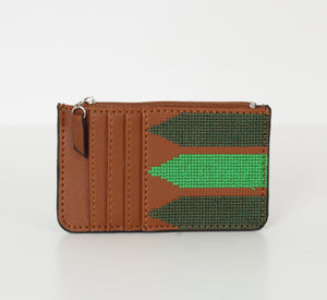 Havane x Green  Card Holder