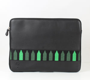 Black x Dark Green Laptop Sleeve